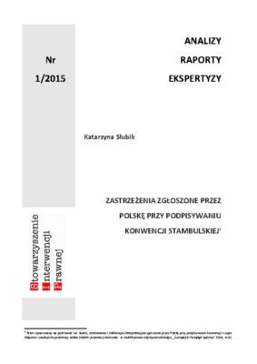 Zastrzeżenia zgłoszone przez Polskę przy podpisywaniu konwencji Stambulskiej